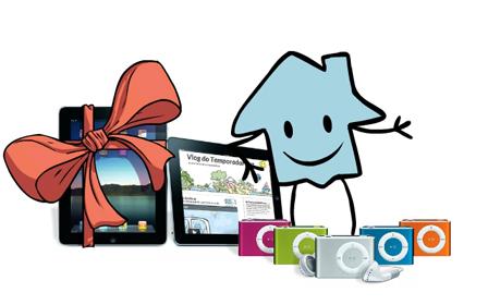 2 iPads e 10 iPods Shuffle